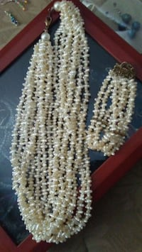 white and brown beaded necklace Beaverton, 97006