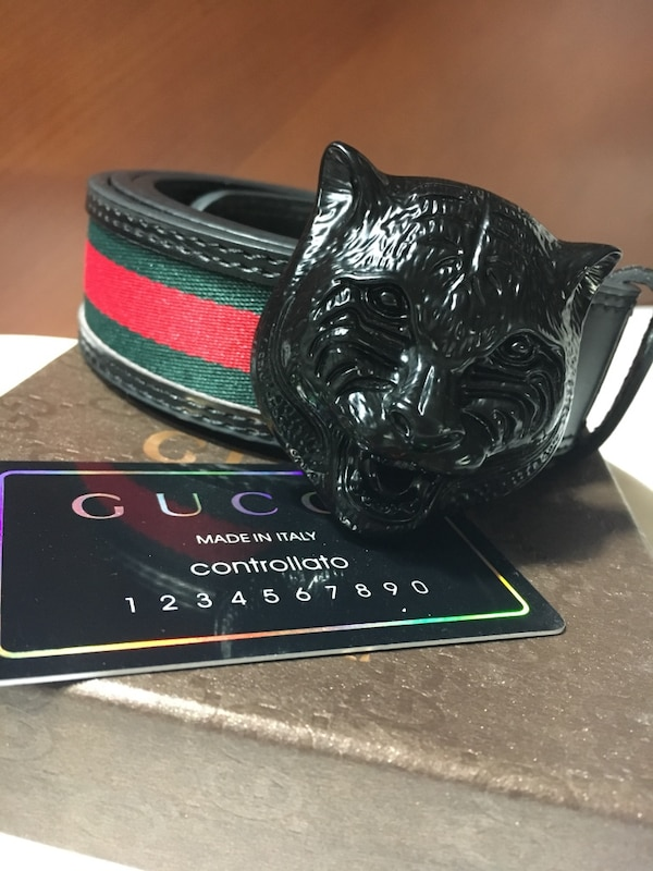 5e3172e619 Used Gucci controllato belt with feline buckle for sale in Turlock - letgo