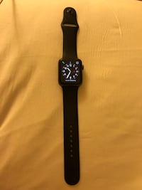black Apple watch with black sports band Mississauga, L5M 7H1