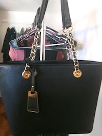 black and brown Michael Kors leather tote bag Fitchburg, 01420