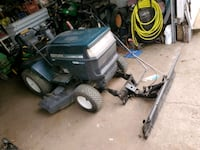 craftsman riding mower with deck & plow Concord, 62631