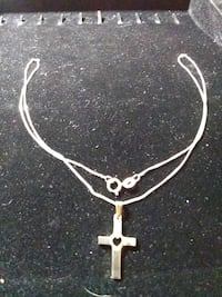 14k white gold cross and chain Guelph, N1E 4C1