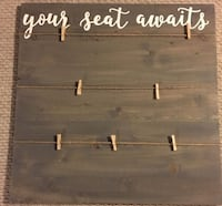 Rustic Wooden Seating Chart Blackwood, 08012
