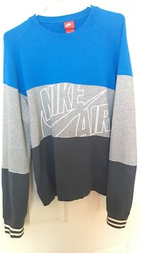 Blue grey and black nike air crew neck sweater