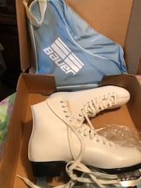 pair of white leather boots TORONTO