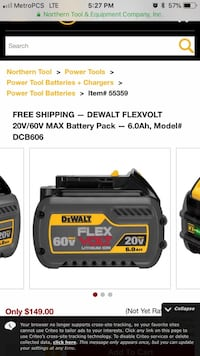black and yellow DeWalt battery charger screenshot Norfolk, 23502