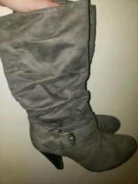 Grey Suede Boots size 8-$25 OBO London, N5V 2C9