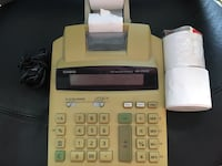 Beige and white casio calculator with receipt Mississauga, L4Z