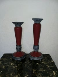 two red-and-black candle holders Fallbrook, 92028
