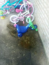 toddler's blue and green bicycle with training whe Silver Spring, 20906