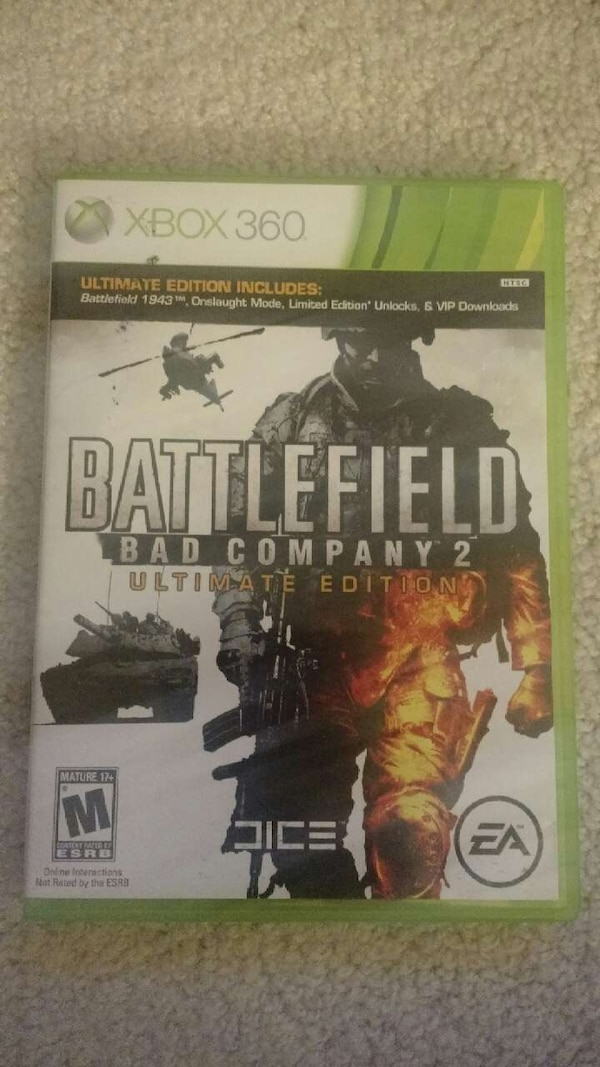 Battlefield Bad Company 2 Xbox 360 game case
