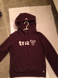 TNA Burgundy Zip-up Hoodie, Ladies Small - $15 Mississauga