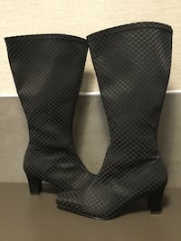 David Tate Stretch Fabric Wide Calf Boots - Brand New! Lynn, 01905