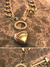 Juicy Couture gold-colored heart pendant necklace authentic Pasadena, 21122