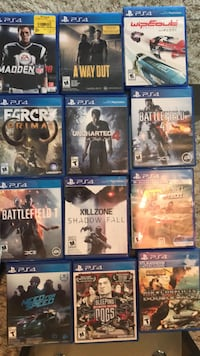 eight assorted PS4 game cases Surrey, V4N 0A3