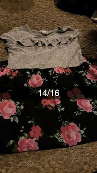 black and pink floral print skirt Bakersfield, 93307