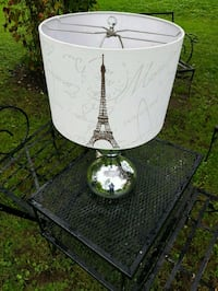 Silver Lamp With Paris Shade