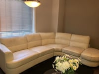 brown fabric sectional sofa with white wooden coffee table Edmonton, T5X 0G1