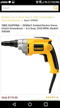 yellow and black DeWalt cordless power drill Tuscaloosa, 35405