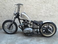 1967 Triumph Bonneville Chopper/bobber in silver fleck and flat black.  New paint, YOM black plate and clean, garaged and covered. Make me an offer....... Los Angeles, 91601