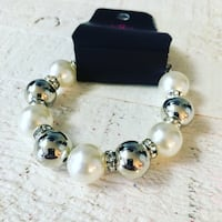 two silver-colored and white pearl earrings Ashburn, 20148