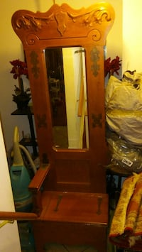 brown wooden cabinet with mirror Oakton