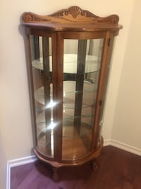 Brown wooden framed glass display cabinet Richmond Hill, L4E 5C9