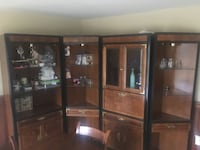 4 piece wooden display cabinet