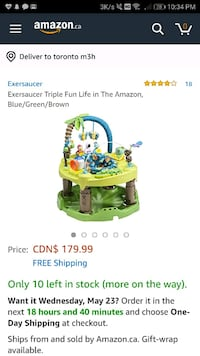 3in1 exersaucer  Barrie, L4N 7P8