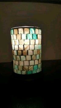 Mosaic style stained glass lamp La Plata, 20646