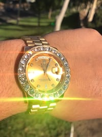 Men's AUTOMATIC Gold ICED OUT Watch Irvine, 92618
