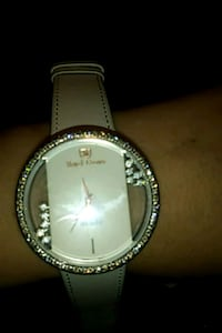 Stainless white gold plated leather watch  Miami, 33179