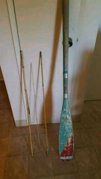 two black and green fishing rods Lethbridge, T1H 5X2