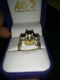 24 KT Indian Gold & 24Kt. White Gold With 2.3 CT. Diamond Ring Size 7