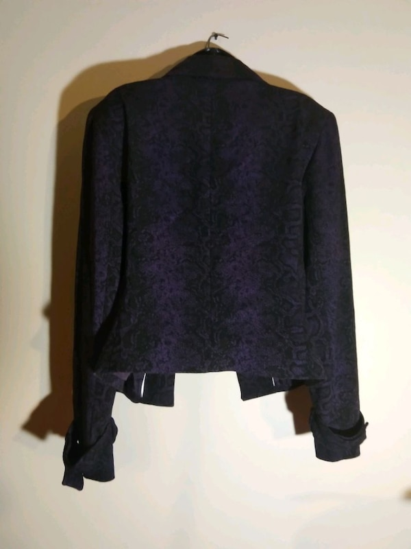 Women's size 16 Blazer purple black Anne Klein 3