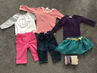 Girls 6-12 month winter clothes some NWT 15 pieces (3 photos attached) *pink pants and zebra outfit sold*