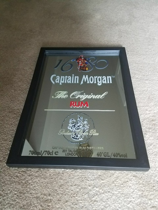 01b01e7e7be37 Used Captain Morgan framed bar mirror for sale in Toms River - letgo
