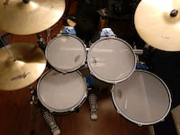 Traps compact drum set complete with remo silent stroke drumheads Henderson, 89052