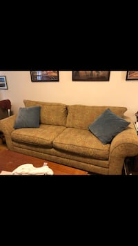 Brown fabric 3-seat sofa New York, 10128