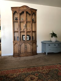 brown wooden cabinet with hutch Washington, 20024