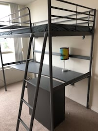 Loft bed frame with desk TORONTO