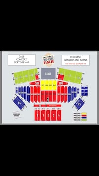 Tim McGraw & Faith Hill @ Mid-State Fair, Tuesday, 7/24/18.  Four tickets, Section 704, Row D, price listed is significantly below face value. Bakersfield, 93312
