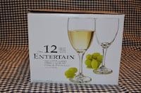 """Clear White Wine Glasses """"Entertain"""" by Libbey WAXHAW"""
