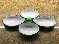 Green and white stackable serving dish Vaughan, L0J 1C0
