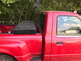 Black Tool box for small stepside truck