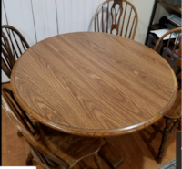 Solid Wood Round Table LOSANGELES