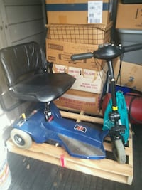 blue and black mobility scooter 53 mi