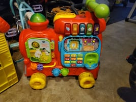 Push train and has sounds with batteries