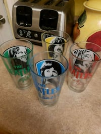 4 Beatles pint glasses Marquette Heights, 61554