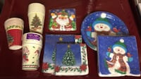 Winter-Themed Paper Plates, Napkins, and Cups For Sale Burlington